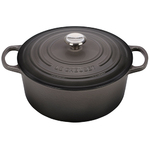 7.25qt Signature Cast Iron Round Dutch Oven Oyster Product Image
