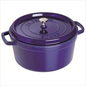 Cast Iron 5.5 Qt. Round Cocotte - Dark Blue Product Image