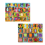 Letters & Numbers Chunky Puzzle Set Ages 3-5 Years Product Image