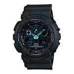 G-Shock Analog Digital Gray and Neon Blue Watch Product Image