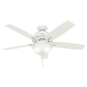 "Contemporary Donegan 52"" Ceiling Fan Fresh White Finish Product Image"