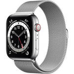 Watch Series 6 (GPS + Cellular, 44mm, Silver Stainless Steel, Silver Milanese Loop Band) Product Image