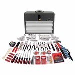 300pc All Purpose Mechanics Tool Kit w/ 3 Drawer Steel Tool Box Product Image