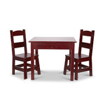 3pc Wooden Table & Chairs Set Espresso - Ages 3-6 Years Product Image