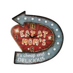 Moms Place Retro Lighted Wall Clock Product Image