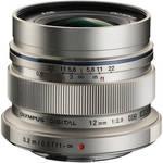 M.Zuiko Digital ED 12mm f/2 Lens (Silver) Product Image