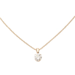 14k Yellow Gold Diamond Necklace .50ct Product Image