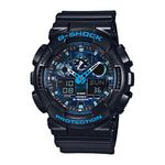 Mens G-Shock Ana-Digi Black Resin Watch Blue Camouflage Dial Product Image