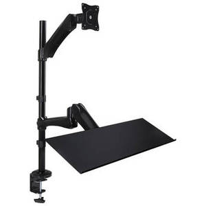 Sit-Stand Desk Mount with Keyboard/Mouse Tray Product Image