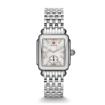 Ladies Deco 16 Silver-Tone Watch Diamond & Mother of Pearl Dial Product Image