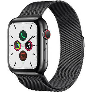 Watch Series 5 (GPS + Cell, 44mm, Space Black Stainless Steel, Space Black Milanese Loop) Product Image
