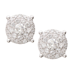 Diamond Multi-Stone 14k White Gold Earrings Product Image