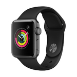 S3 38mm Space Gray Alum Case Watch w/ Black Sport Band Product Image