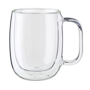 Sorrento Plus 2-Piece Double-Wall Glass Coffee Mug Set Product Image
