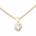 14k Yellow Gold Diamond Necklace .25ct Product Image