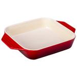 2.2qt Heritage Stoneware Square Dish Cerise Product Image