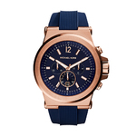 Mens Dylan Navy Silicone Strap Chronograph Watch Navy Dial Product Image