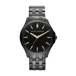 Mens Hampton Black PVD Stainless Steel Watch Black Dial Product Image