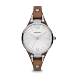 Fossil Women's Georgia Three-Hand Leather Watch Product Image