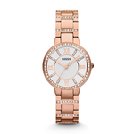 Ladies Virginia Crystal Rose Gold Watch Silver Dial Product Image