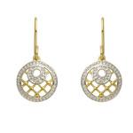 Gold Diamond Filigree Dangle Earrings Product Image