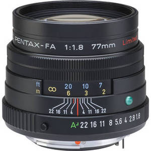 smc PENTAX-FA 77mm f/1.8 Limited Lens (Black) Product Image