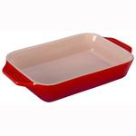 1.8qt Heritage Stoneware Rectangular Dish Cerise Product Image