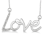 Diamond LOVE Necklace Product Image