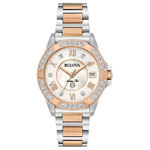 Ladies Marine Star Rose Gold & Silver-Tone Diamond Watch Product Image