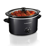 3 Qt Oval Slow Cooker Black Product Image