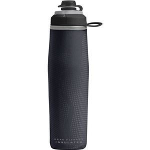 Peak Fitness Chill 24 oz. Insulated Sport Bottle - Black/Silver Product Image