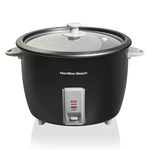 30 Cup Rice Cooker & Food Steamer Black Product Image