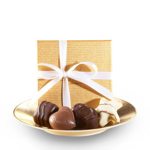 GODIVA 4 Piece Gold Party Favors w/White Ribbon Product Image