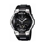 Ladies Baby-G Shock Ana-Digi Stainless Steel Watch Black Product Image