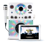 LED Disco Light and Bluetooth Karaoke Machine White Product Image