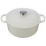 7.25qt Signature Cast Iron Round Dutch Oven White Product Image