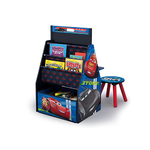 Disney Cars Easel Desk Activity Ctr w/Stool & Toy Organizer Product Image