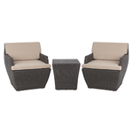 Bel Cubo Square Wicker 3pc Bistro Set Product Image