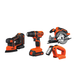 20V MAX Lithium-Ion 4-Tool Combo - Drill Sander Saw & Light Product Image