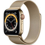 Watch Series 6 (GPS + Cellular, 40mm, Gold Stainless Steel, Gold Milanese Loop) Product Image