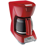 12 Cup Programmable Coffeemaker Red Product Image