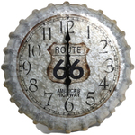 "14"" Route 66 Bottlecap Clock Product Image"