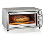 4-Slice Silver Toaster Oven Product Image