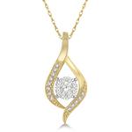 14k Yellow Gold .20twt Diamond Pendant Necklace Product Image