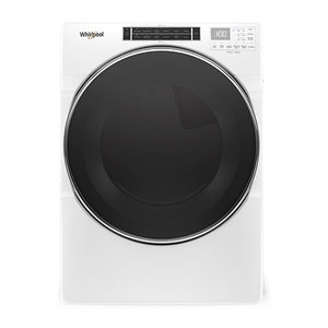 7.4 Cu Ft Front Load Electric Dryer w/ Steam Cycles White Product Image