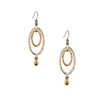 Two-Tone Oval Drop Earrings Product Image