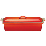 1.5qt Heritage Cast Iron Pate Terrine Flame Product Image