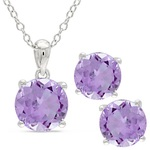 Purple Amethyst Earring And Necklace Set Product Image