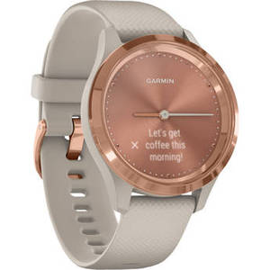 vivomove 3S Hybrid Smartwatch (39mm, Rose Gold Stainless Steel Bezel/Light Sand Case, Silicone Band) Product Image