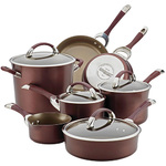 11pc Symmetry Hard Anodized Cookware Set Merlot Product Image